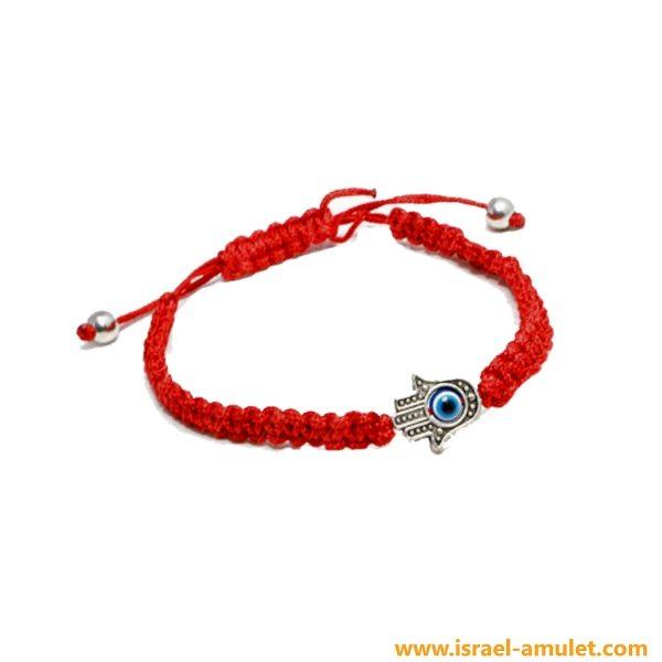Красная нить с хамсой браслет