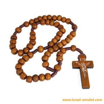 Чётки из оливы с крестиком из Иерусалима