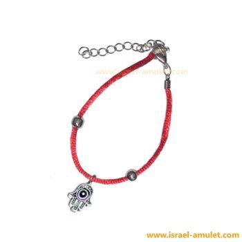 Ладонь хамса с красной шёлковой нитью браслет