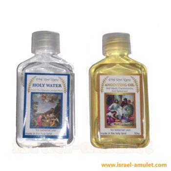 Освященное масло из Иерусалима и святая вода из Иордана