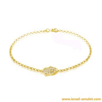 Gold filled браслет с золотым покрытием на руку с хамсой