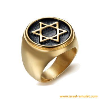Печатка позолоченная Звезда Давида