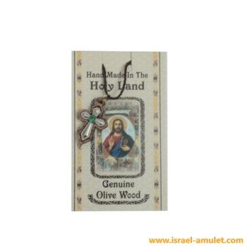 Крестик иерусалимский со стразом