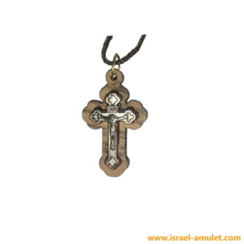 Нательный иерусалимский крестик из оливы